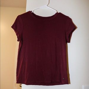 Maroon Short sleeve shirt | American Eagle